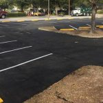 parking lot with striping